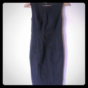 Club Monaco black cotton sleeveless sheet dress